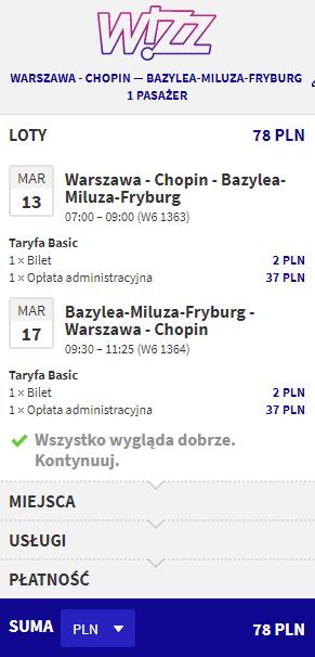 rezerwacja lotów do Bazylei
