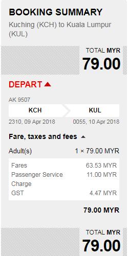 Rezerwacja przelotów z Kuching do Kuala Lumpur