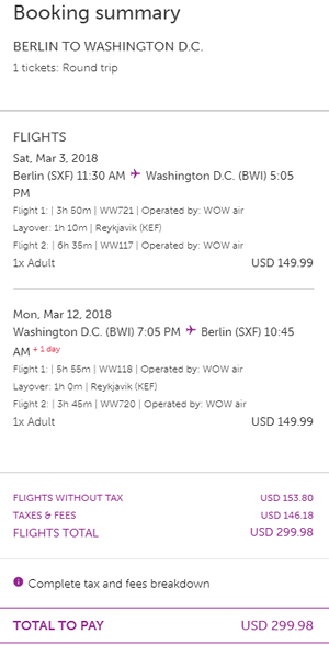 rezerwacja lotów do Waszyngtonu