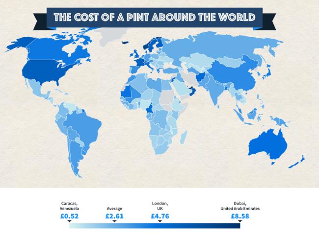 ceny piwa na świecie