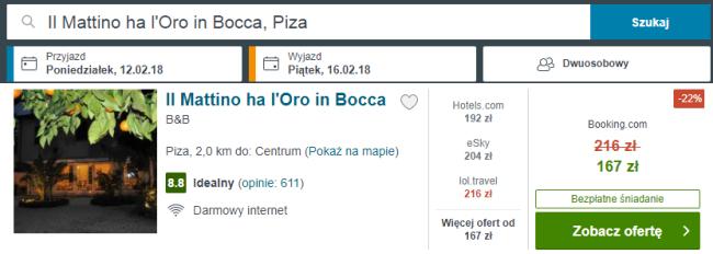 piza nocleg