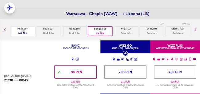 rezerwacja lotów do lizbony