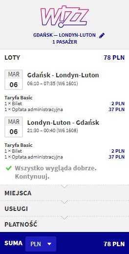 rezerwacja lotów do londynu z gdańska