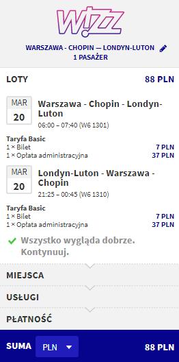 rezerwacja lotów do londynu z warszawy