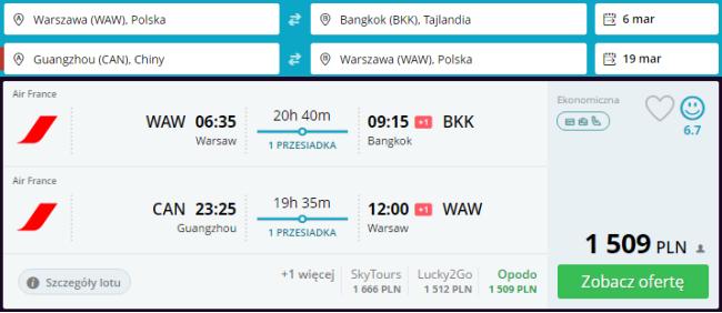Rezerwacja przelotów z Warszawy do Azji