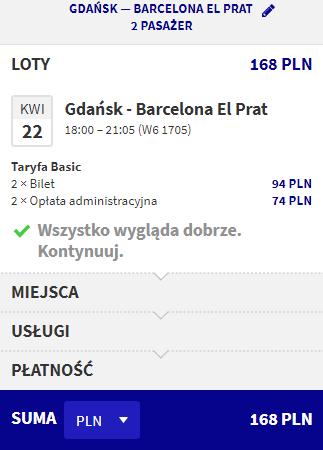 rezerwacja lotów z gdańska do barcelony