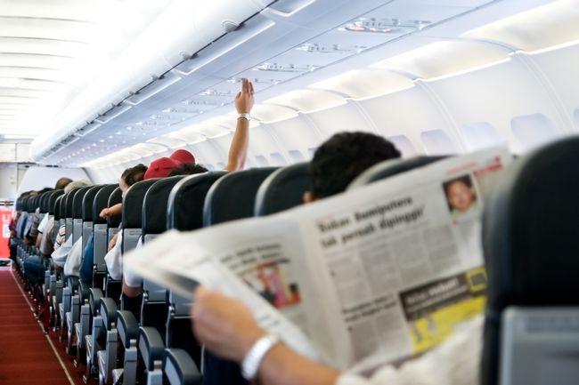 Relaks w samolocie
