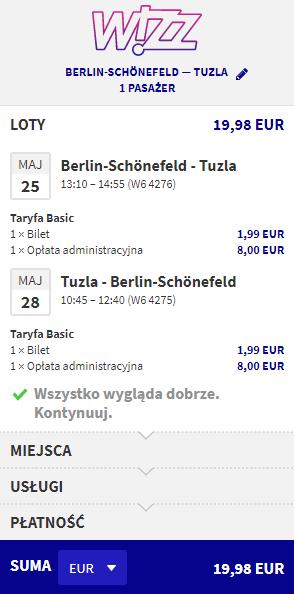 rezerwacja lotów do Tuzli