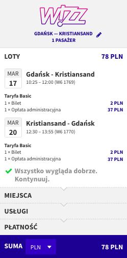 zarezerwuj lot do Kristiansand