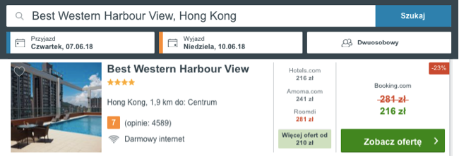 zarezerwuj hotel w hong kongu
