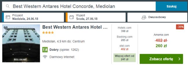 mediolan hotel