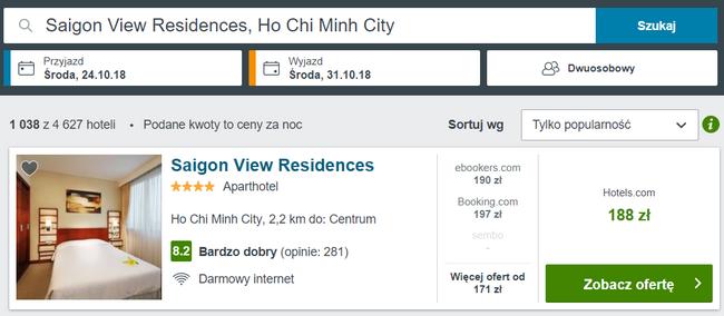 rezerwacja noclegów w Wietnamie