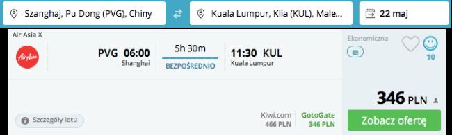 zarezerwuj lot do Kuala Lumpur