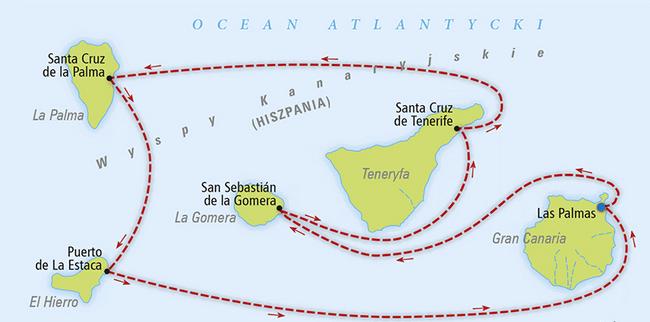 plan rejsu po Wyspach Kanaryjskich