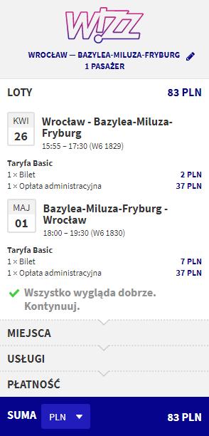 Rezerwacja przelotów z Wrocławia do Bazylei