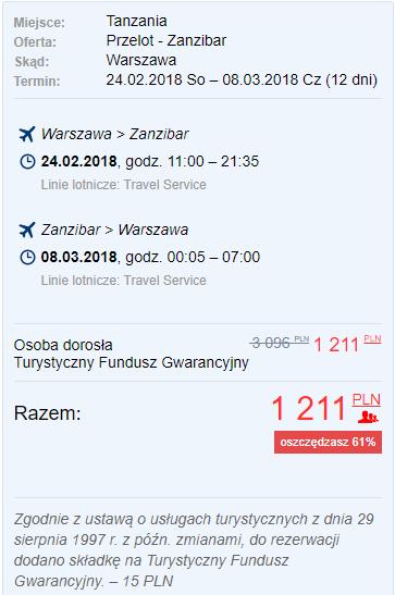 rezerwacja lotów na zanzibar