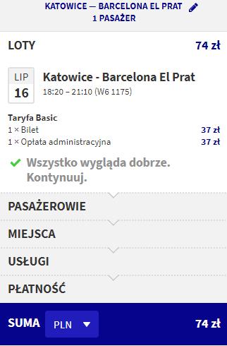 rezerwacja lotów z katowic do Barcelony