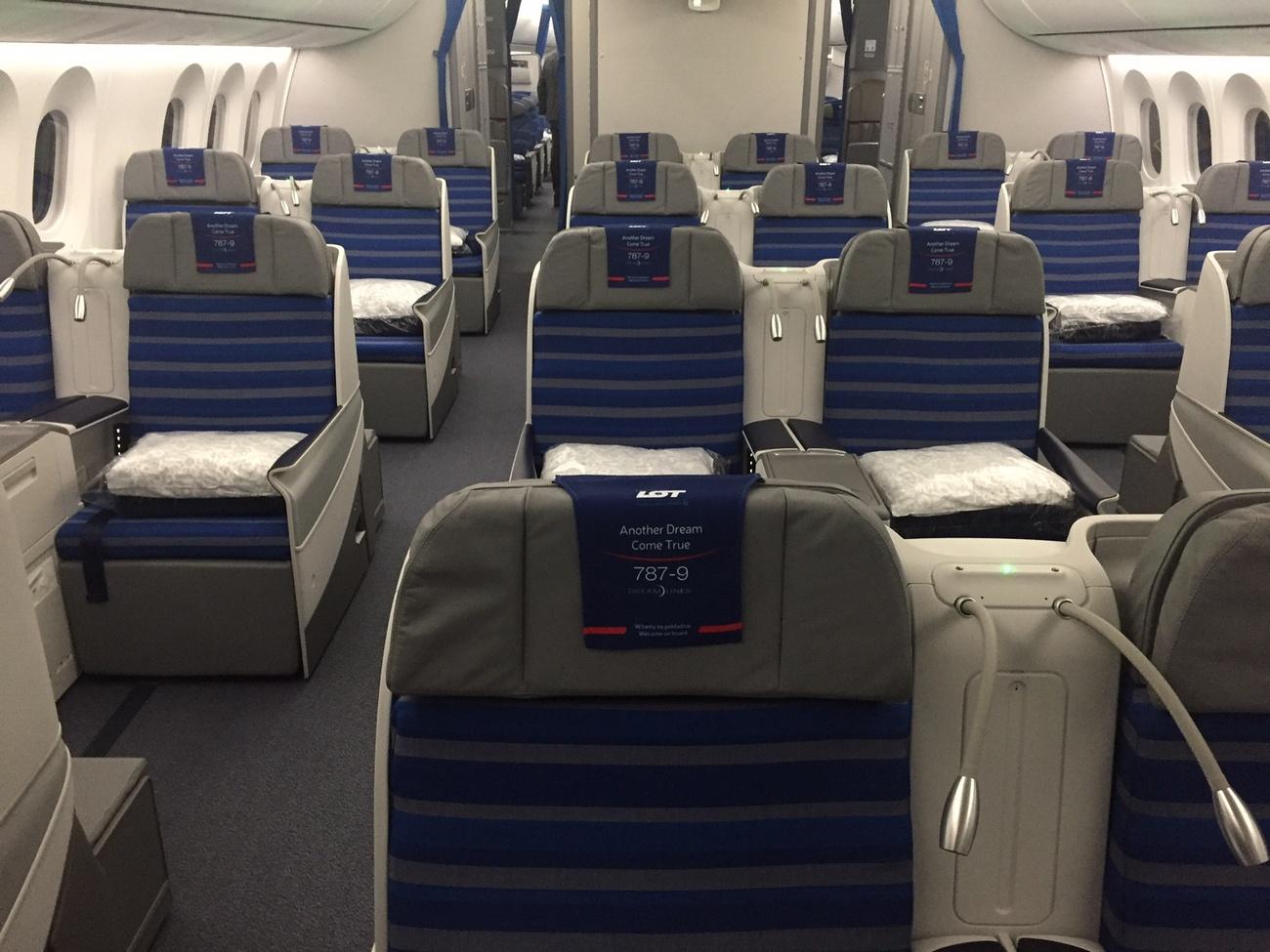 klasa biznes w Dreamlinerze