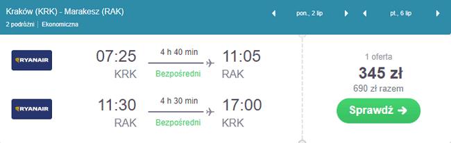 rezerwacja lotów do Marrakeszu