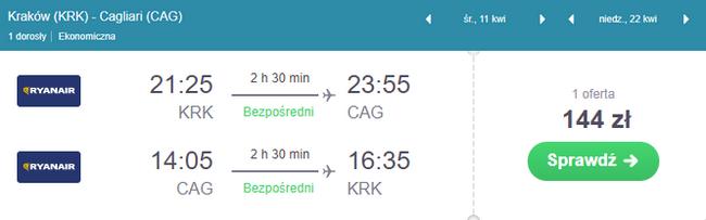 rezerwacja lotów na Sardynię