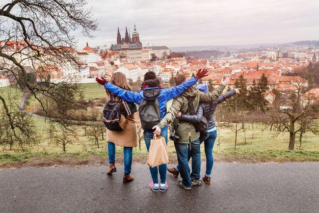 Podróżnicy w Pradze