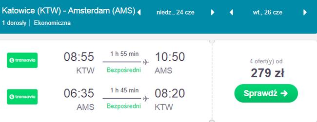 rezerwacja lotów z katowic do amsterdamu