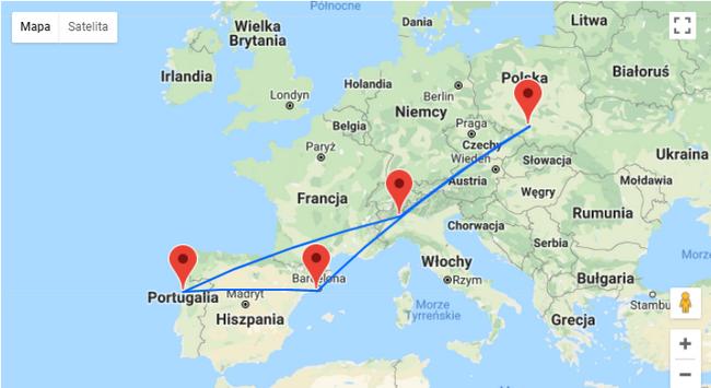 trasa podróży