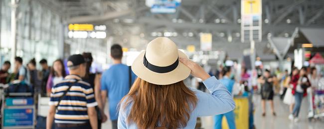 kobieta na lotnisku