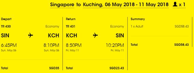 Rezerwacja przelotów z Singapuru do Kuching