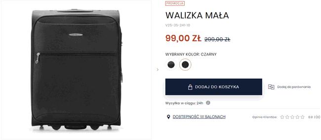 a542e9ece4d6f Walizki kabinowe Wittchen już za 99 PLN. Idealne dla Wizz Air i ...