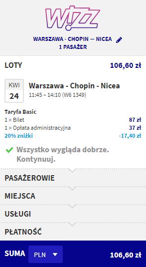 Rezerwacja przelotów z Warszawy do Nicei
