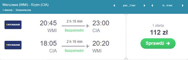 rezerwacja lotów do Rzymu