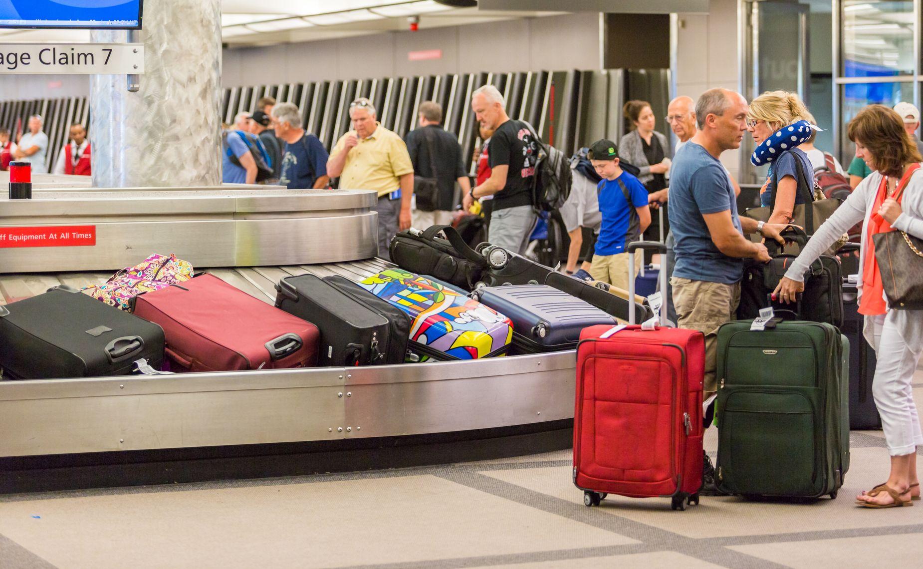 Odbiór bagażu na lotnisku