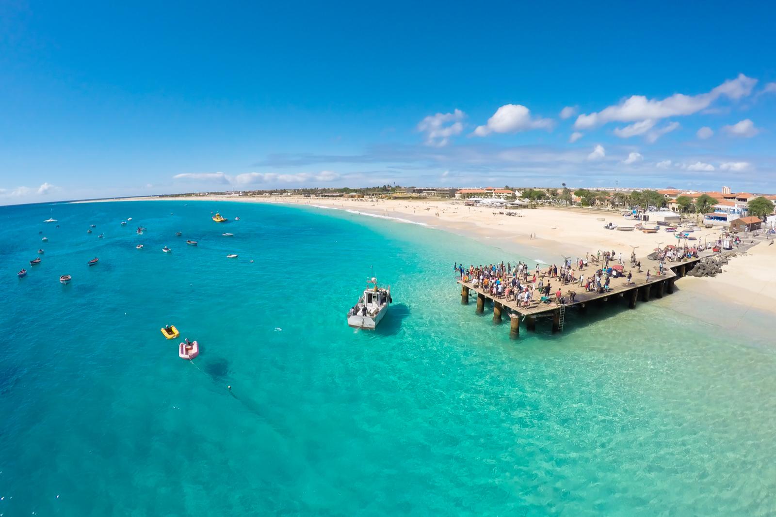 plaża na Wyspach Zielonego Przylądka