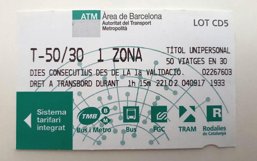 Bilet w Barcelonie
