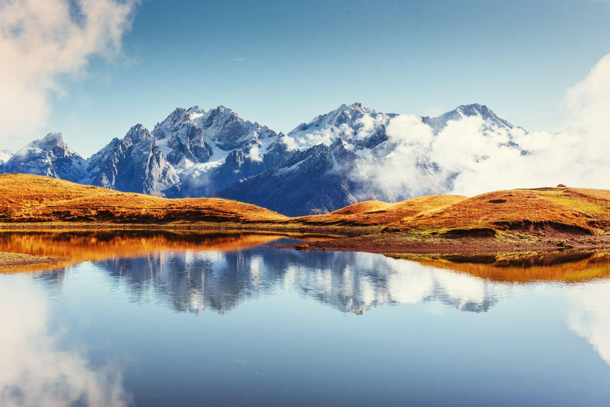 Gruzja widok na góry