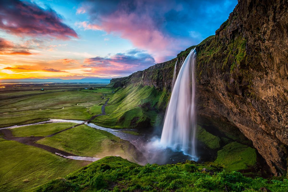islandia wodospad