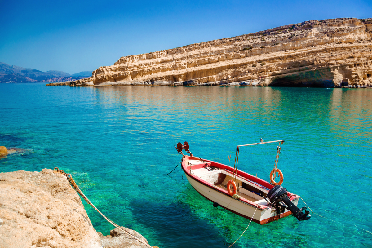 Kreta matala beach