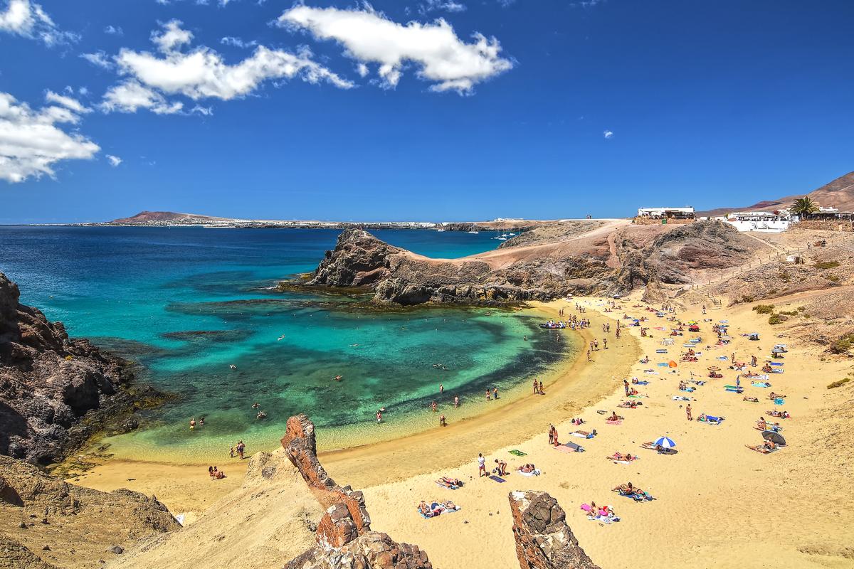 plaża na Lanzarote