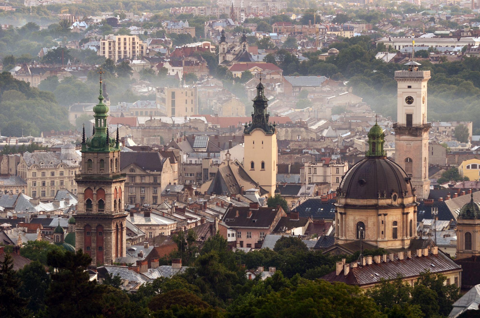 Lwów panorama miasta