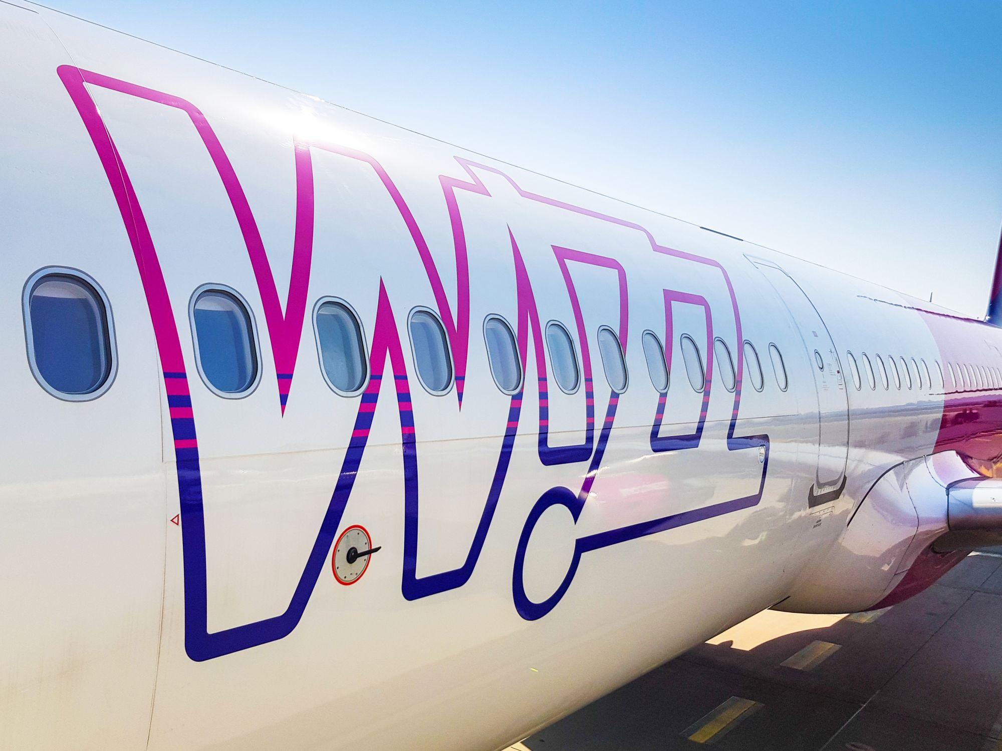 Wizz Air widok samolotu