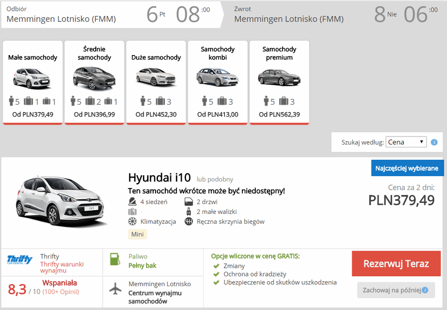 wypożyczenie samochodu w bawarii
