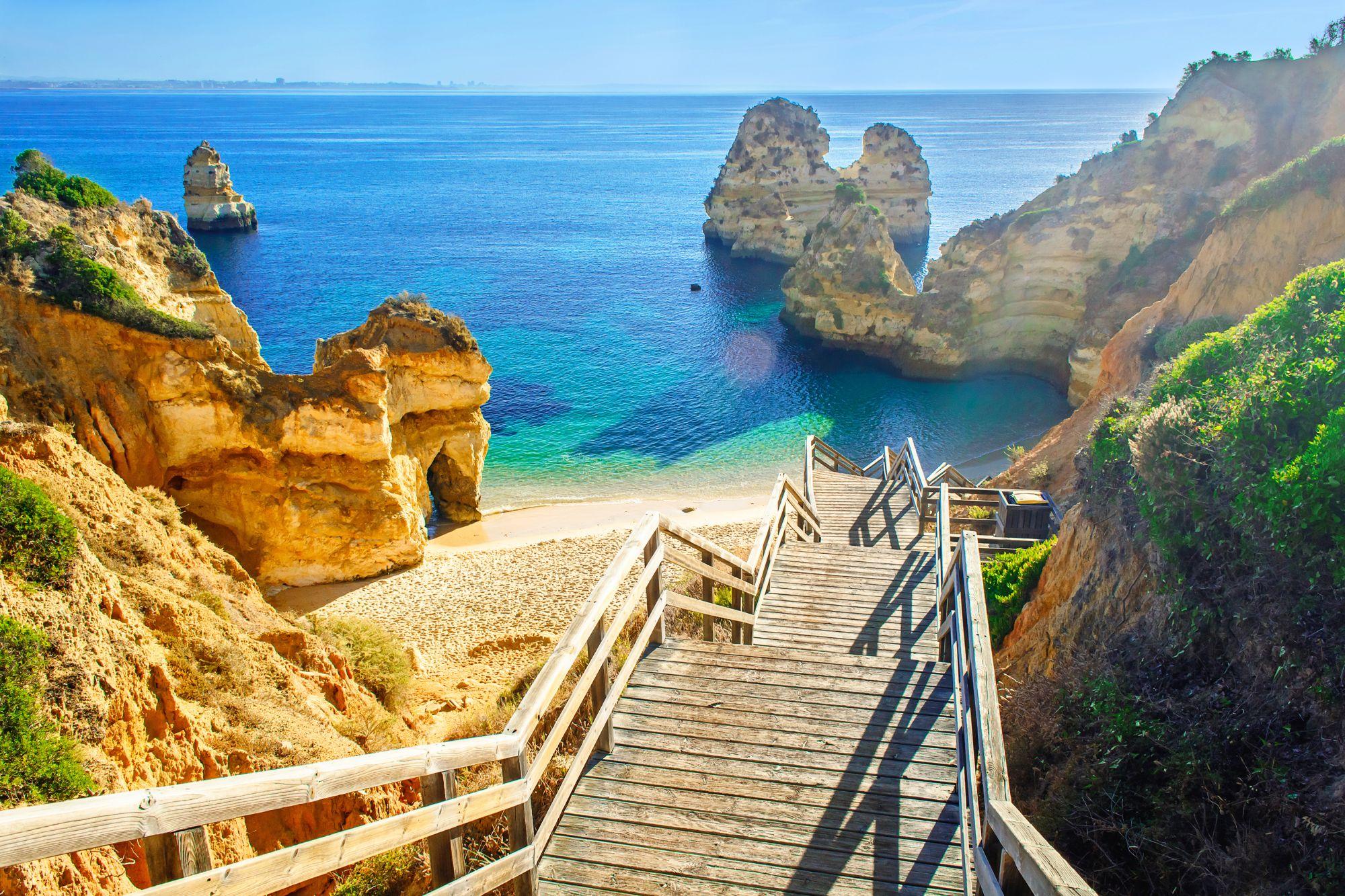 Algarve widok plaży