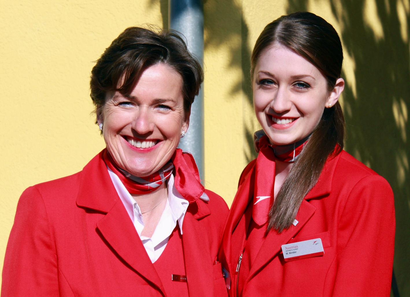 austrian airlines stewardesy