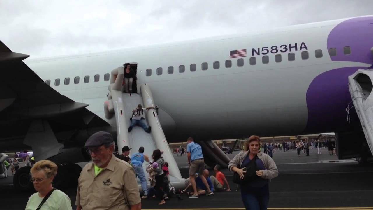 ewakuacja samolotu Hawaiian Airlines