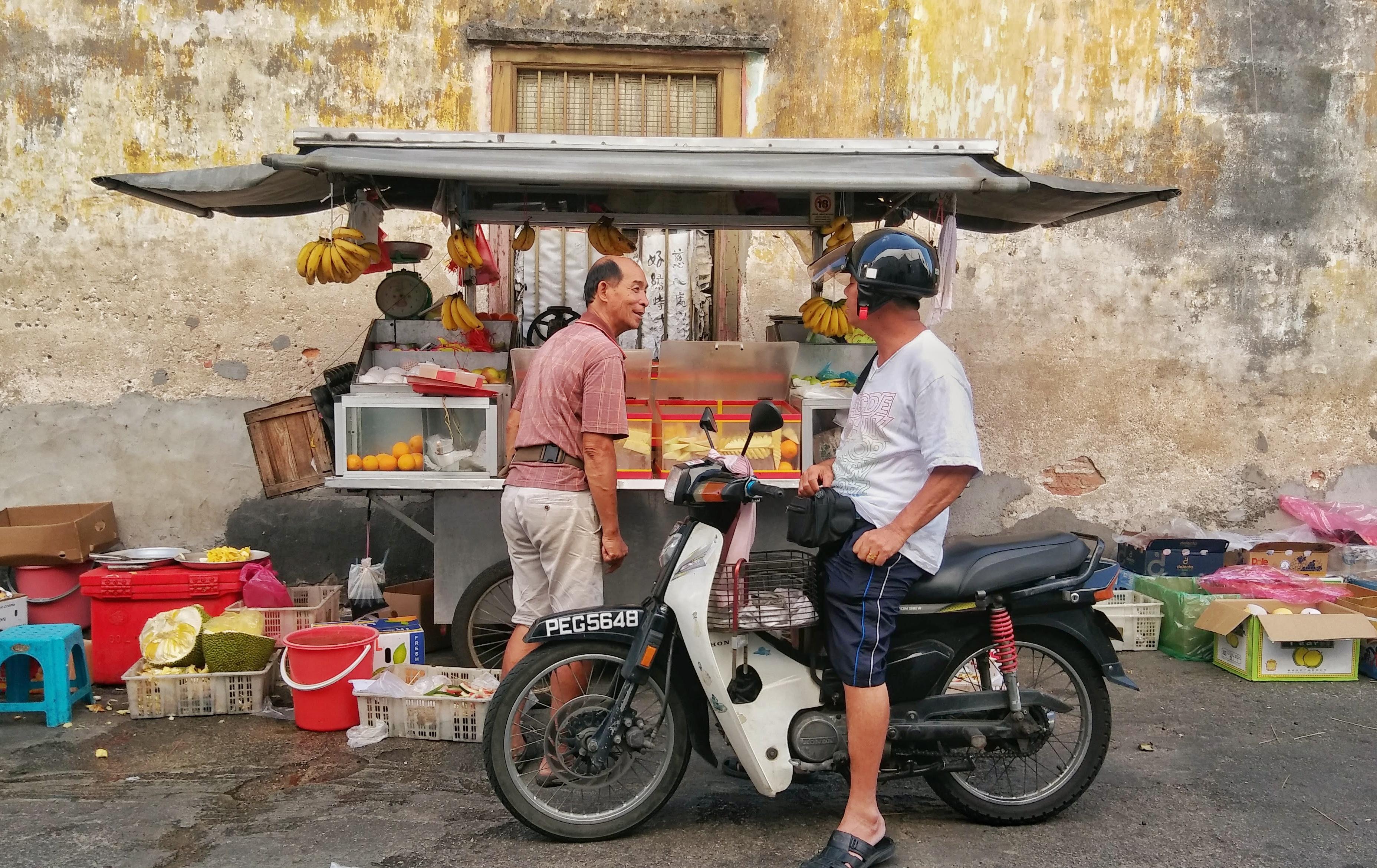 street food penang sprzedawca
