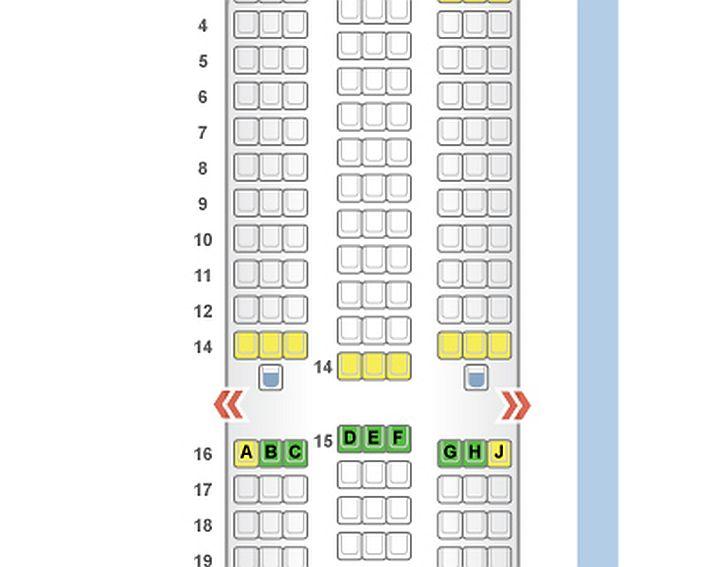 Airbus A330 wnętrze układ siedzeń