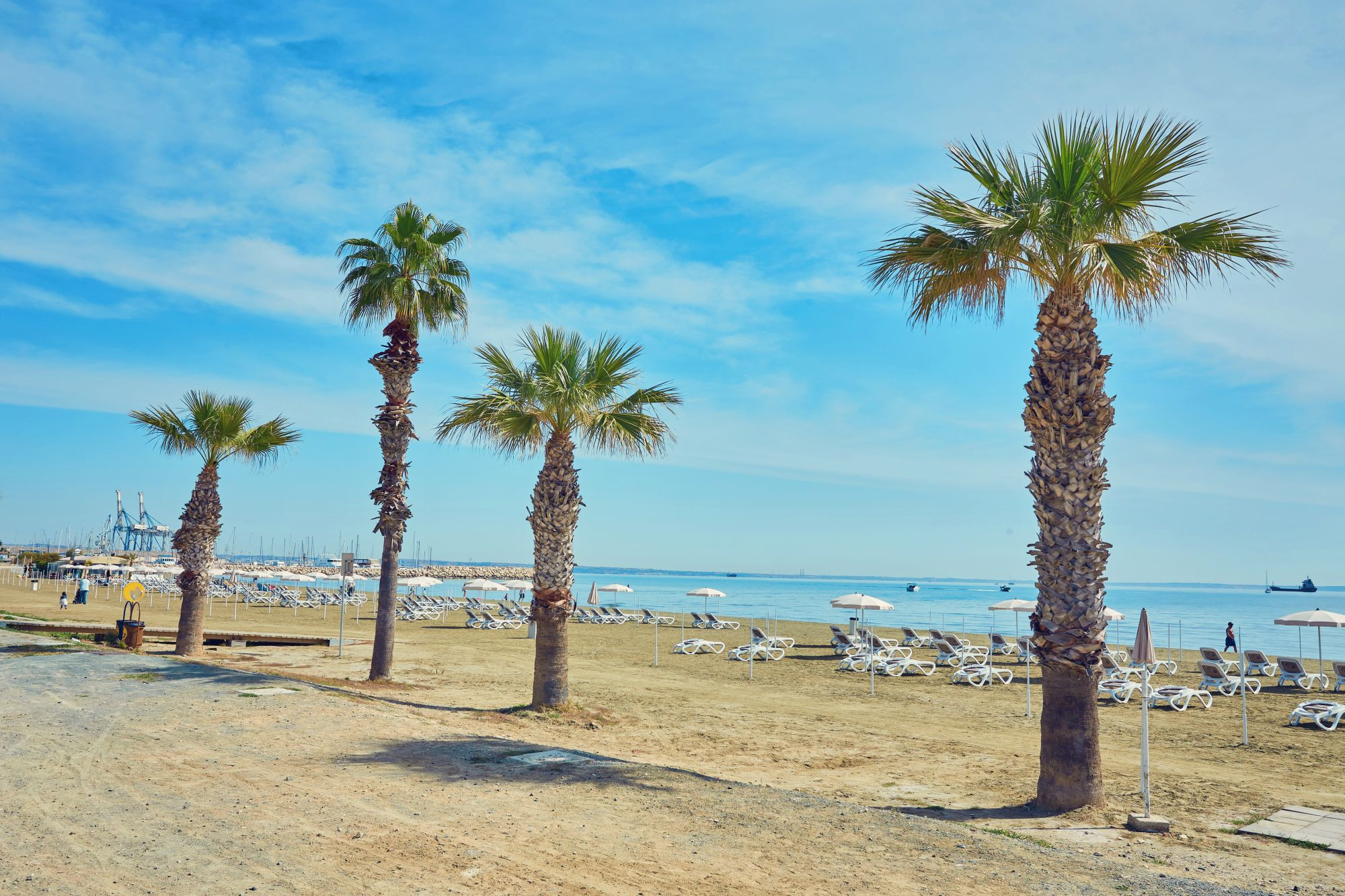 Larnaka widok plaży