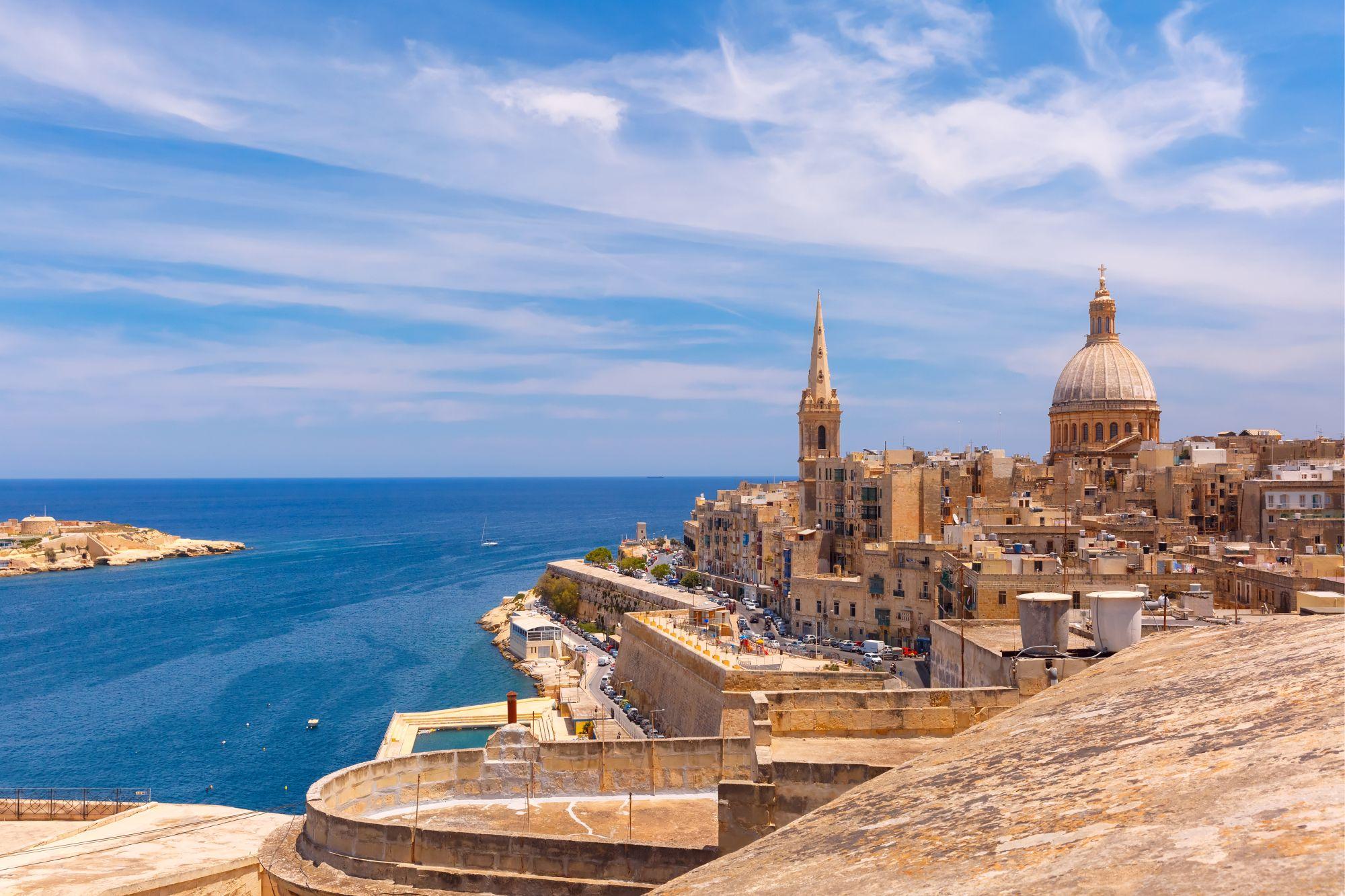 Malta panorama wybrzeża