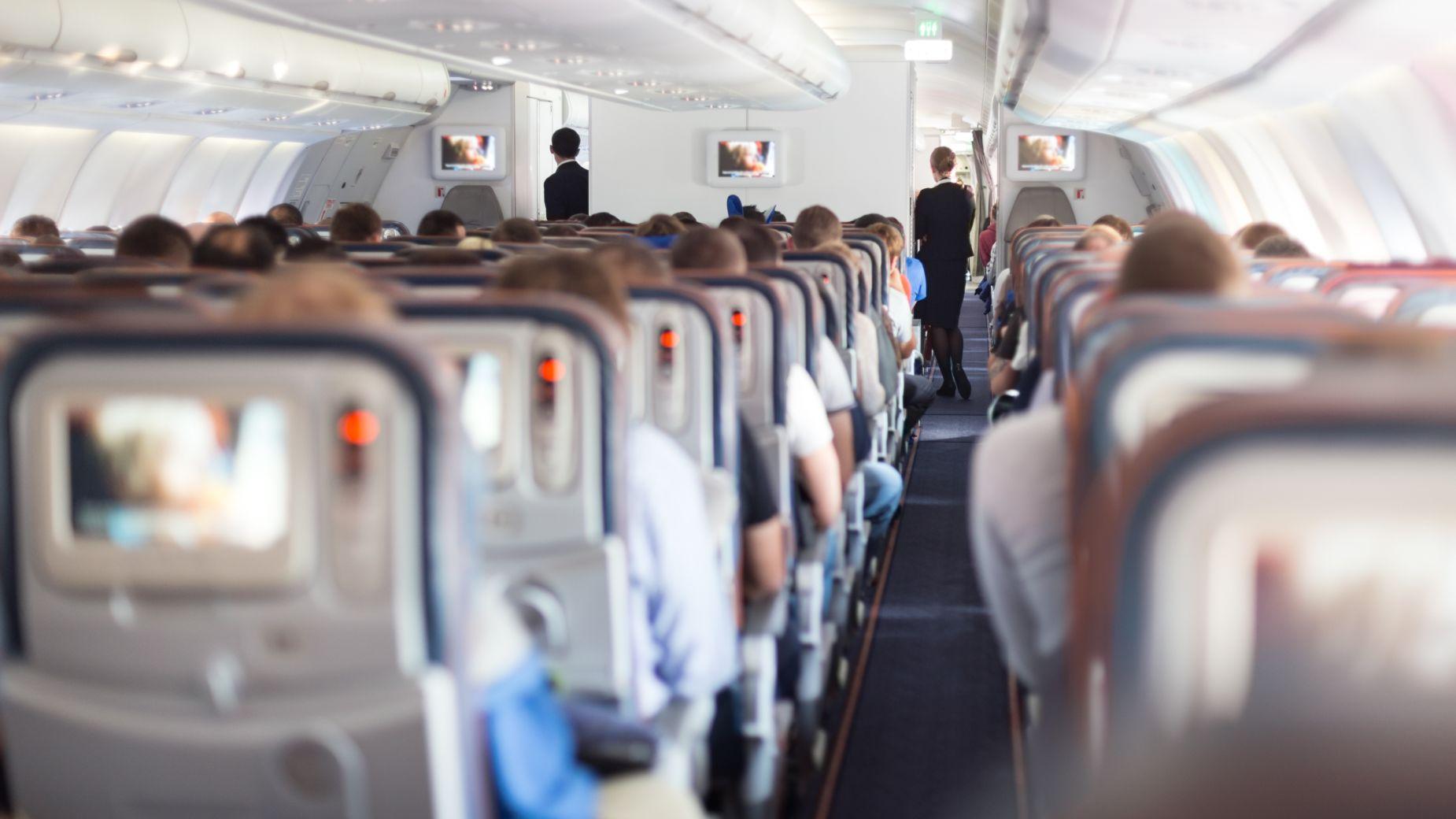 Wnętrze samolotu szerokokadłubowego